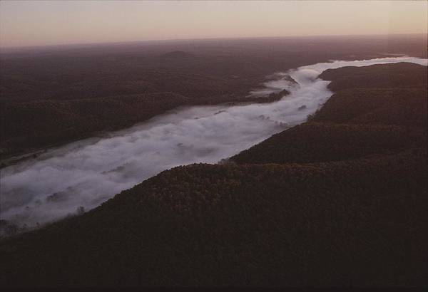 North America Poster featuring the photograph Aerial Of The Buffalo River by Randy Olson