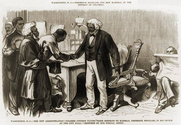 History Poster featuring the photograph In 1877 Frederick Douglass 1818�95 by Everett