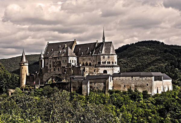 Europe Poster featuring the photograph Vianden Castle - Luxembourg by Juergen Weiss