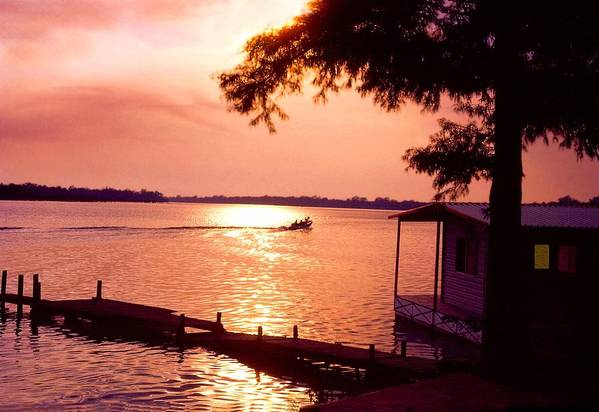 Sunset Poster featuring the photograph Lake Chicot Sunset by John Foote
