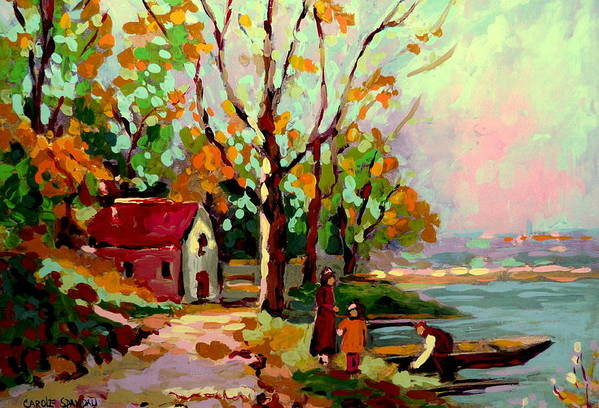 Montreal Poster featuring the painting Cottage Country The Eastern Townships A Romantic Summer Landscape by Carole Spandau