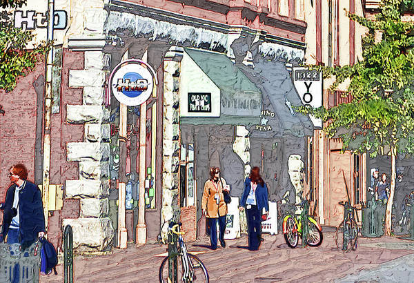 Virtual Painter Poster featuring the photograph Day Of Shopping by Dale Stillman