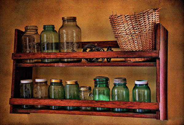 Jar Poster featuring the photograph Old Jars by Lana Trussell