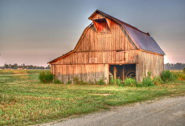 Barn Poster featuring the photograph Ruddish Barn At Dawn by Douglas Barnett