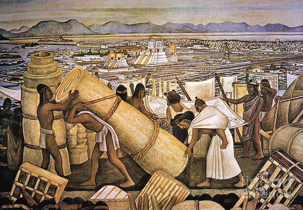 American Indian Poster featuring the photograph Tenochtitlan (mexico City) by Granger