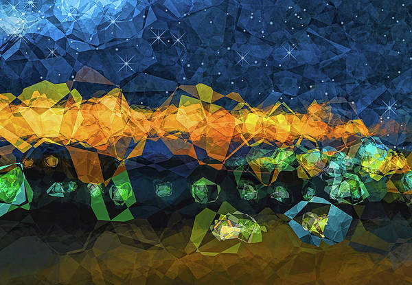 Abstract Poster featuring the digital art The Campsite by Wendy J St Christopher