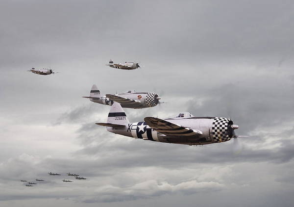 Aircraft Poster featuring the photograph P47 Thunderbolt Top Cover by Pat Speirs