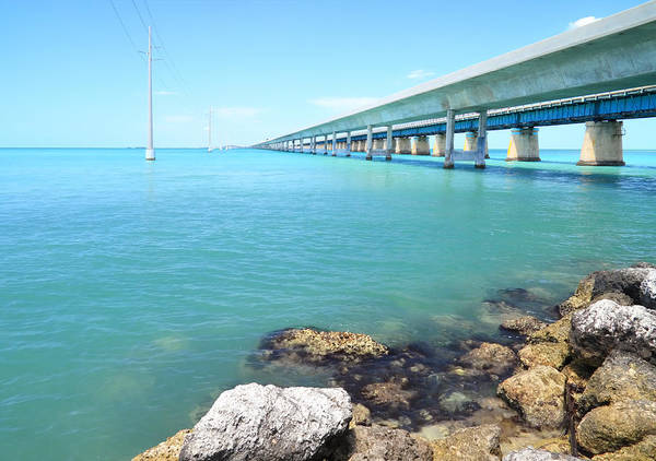 Florida Poster featuring the photograph Seven Mile Bridge-1 by Rudy Umans
