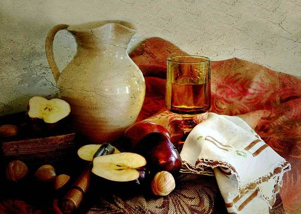 Classic Still Life Poster featuring the photograph Apples Today by Diana Angstadt