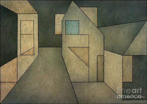 Geometric Poster featuring the digital art Geometric Abstraction II by David Gordon