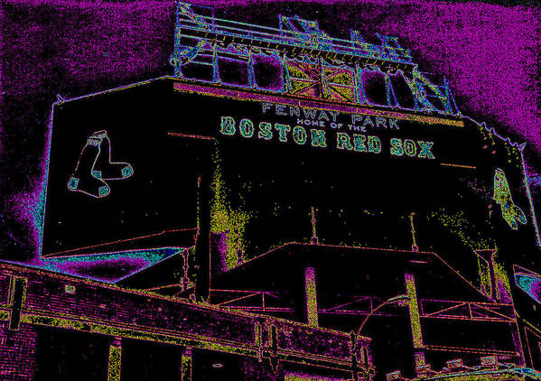 Fenway Park Poster featuring the photograph Impressionistic Fenway Park by Gary Cain