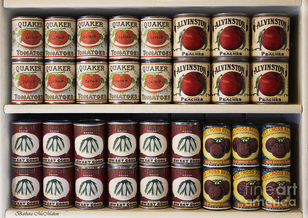Food Poster featuring the photograph In The Cupboard by Barbara McMahon