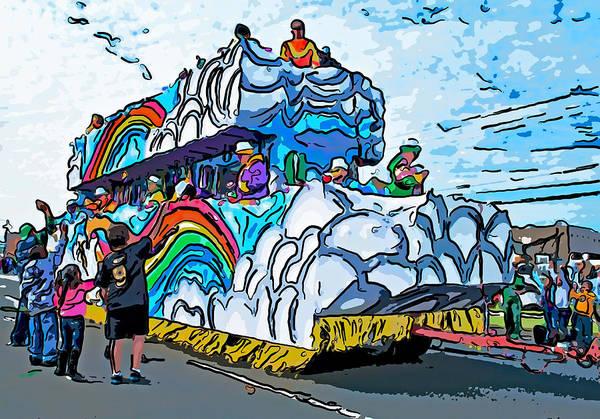Digital Art Poster featuring the photograph The Spirit Of Mardi Gras by Steve Harrington