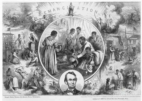 1865 Poster featuring the photograph Emancipation Proclamation by Granger