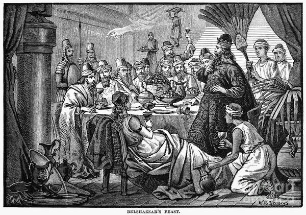1884 Poster featuring the photograph Belshazzars Feast by Granger