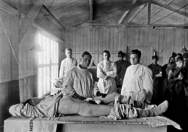 Human Poster featuring the photograph Base Hospital In World War I by Usa National Library Of Medicine