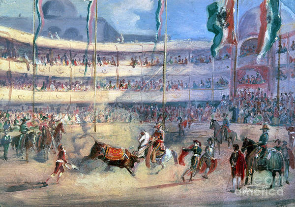 1833 Poster featuring the photograph Mexico: Bullfight, 1833 by Granger