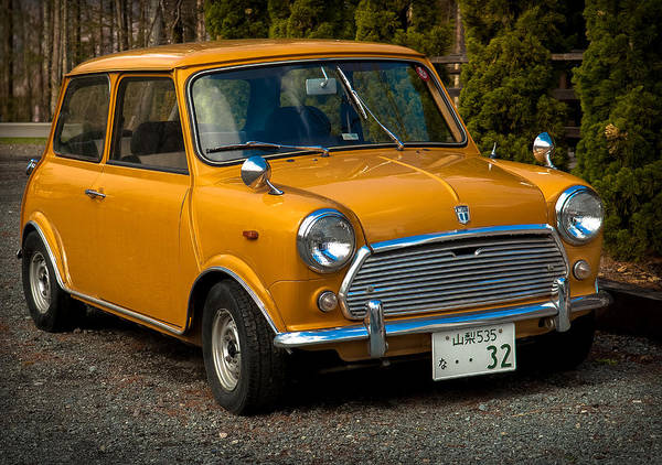 Car Poster featuring the photograph Moris Mini Cooper by Sebastian Musial