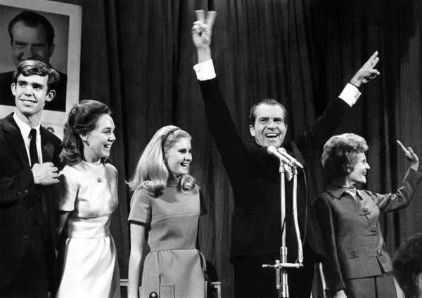 History Poster featuring the photograph New President-elect Richard Nixon by Everett