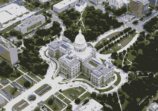 Capitol Of Texas Poster featuring the photograph Texas Capitol Color 6 by Scott Kelley