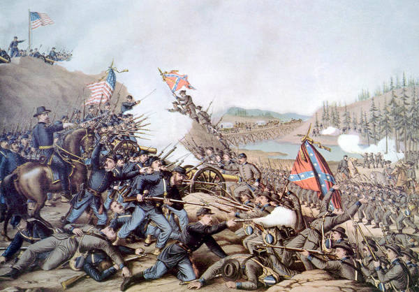 Battle Of Franklin Poster featuring the photograph The Battle Of Franklin, November 30 by Everett