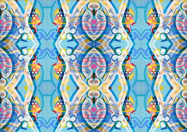 Swimming Poster featuring the tapestry - textile Swimming by Ky Wilms