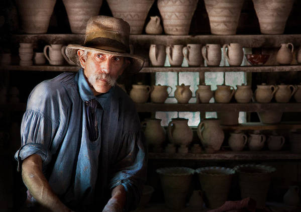 Hdr Poster featuring the photograph Artist - Potter - The Potter II by Mike Savad