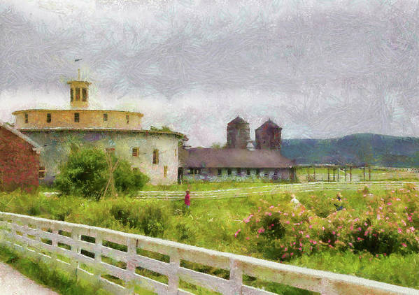 Suburbanscenes Poster featuring the photograph Farm - Barn - Farming Is Hard Work by Mike Savad