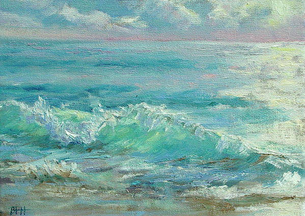 Ocean Poster featuring the painting Good Morning Surf by Barbara Hageman