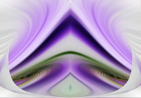 Abstract Poster featuring the digital art Iris Abstract by Linda Phelps