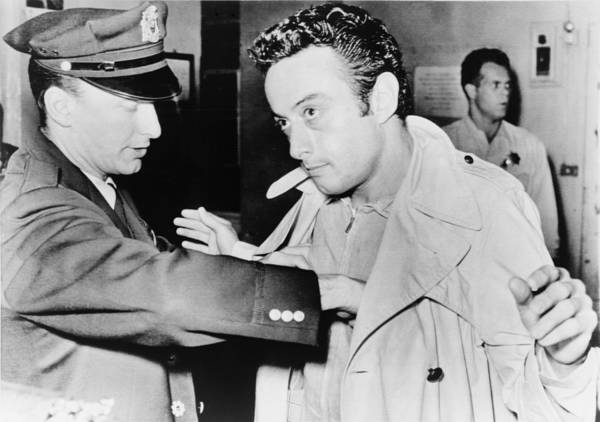 1960s Poster featuring the photograph Lenny Bruce 1925-1966, Being Searched by Everett
