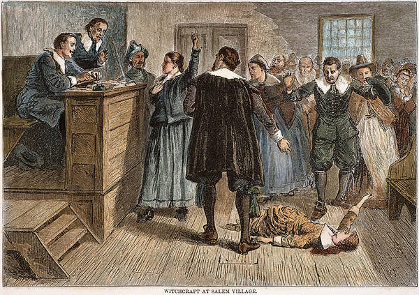1692 Poster featuring the photograph Salem Witch Trials, 1692 by Granger