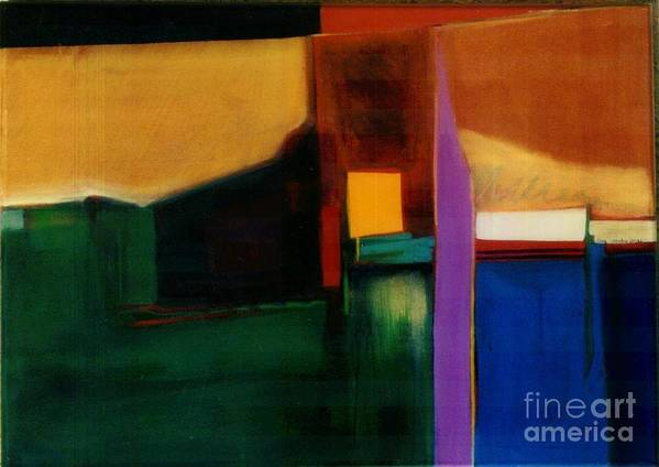 Abstract Poster featuring the painting Santa Fe 1 Break Loose by Marlene Burns