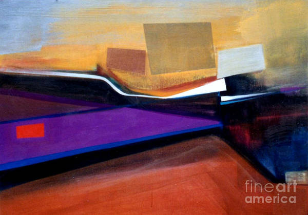 Abstract Poster featuring the painting Santa Fe 2 Let Loose by Marlene Burns