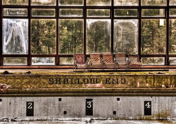 Abandoned Poster featuring the photograph Shallow End by Evelina Kremsdorf