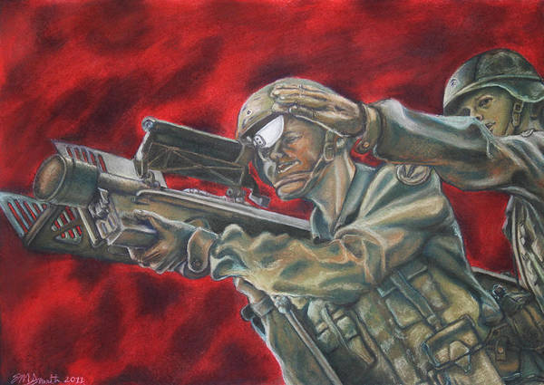 Pastel Poster featuring the painting Stinger Dedication by Erin Smith