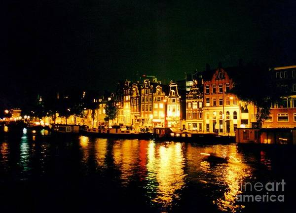 Amsterdam At Night Three Poster featuring the photograph Amsterdam At Night Three by John Malone