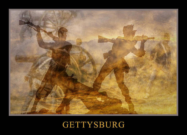 Confederate Poster featuring the digital art At A Place Called Gettysburg Poster by Randy Steele