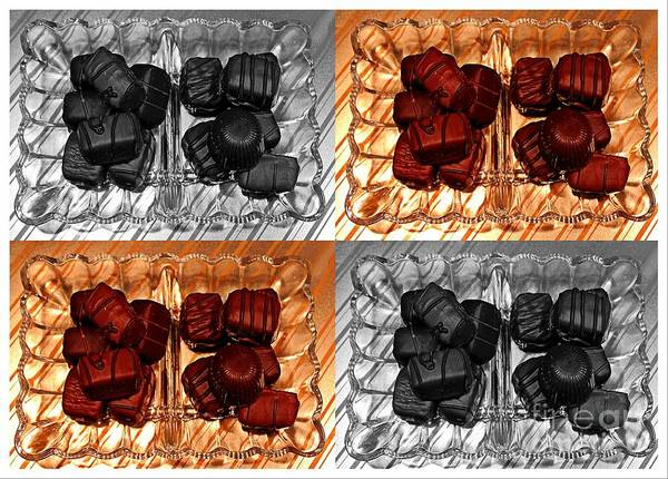 Chocolates Poster featuring the ceramic art Chocolates by Barbara Griffin