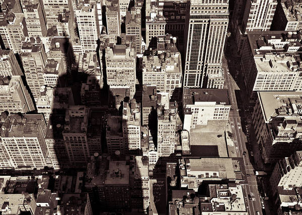 New York Poster featuring the photograph City Shadow by Dave Bowman