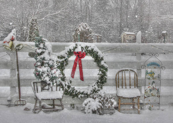 Fence Poster featuring the photograph Clarks Valley Christmas 3 by Lori Deiter