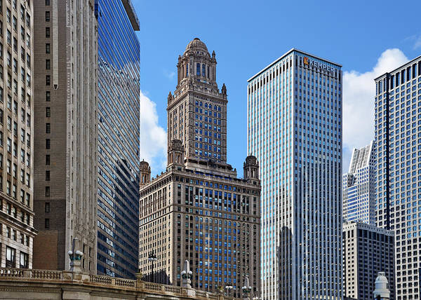 Deco Poster featuring the photograph Classic Chicago - The Jewelers Building by Christine Till