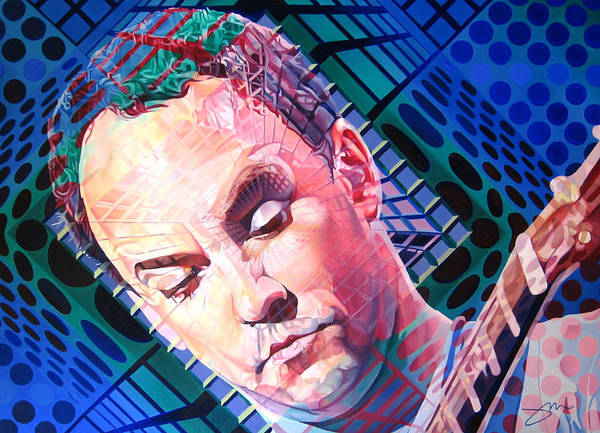 Dave Matthews Poster featuring the painting Dave Matthews Open Up My Head by Joshua Morton