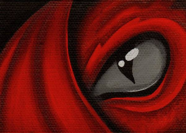 Red Dragon Poster featuring the painting Eye Of The Scarlett Hatching by Elaina Wagner