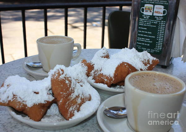 Cafe Au Lait Poster featuring the photograph New Orleans Breakfast by Carol Groenen