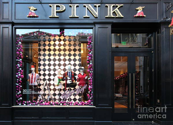 San Francisco Poster featuring the photograph San Francisco Pink Storefront - 5d20565 by Wingsdomain Art and Photography