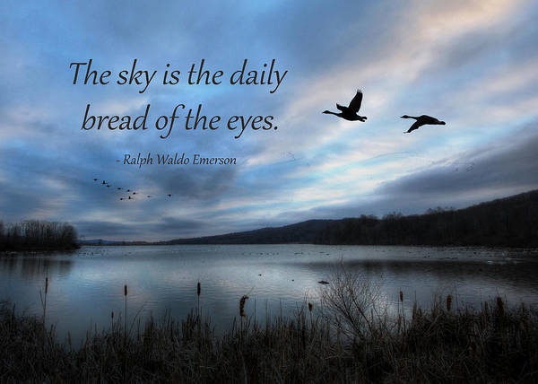 Middle Creek Wildlife Management Area Poster featuring the photograph The Sky by Lori Deiter
