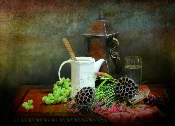 Still Life Poster featuring the photograph The White Spout by Diana Angstadt