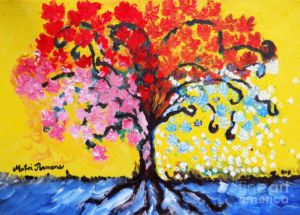 Tree Of Life Poster featuring the painting Tree Of Life by Ramona Matei