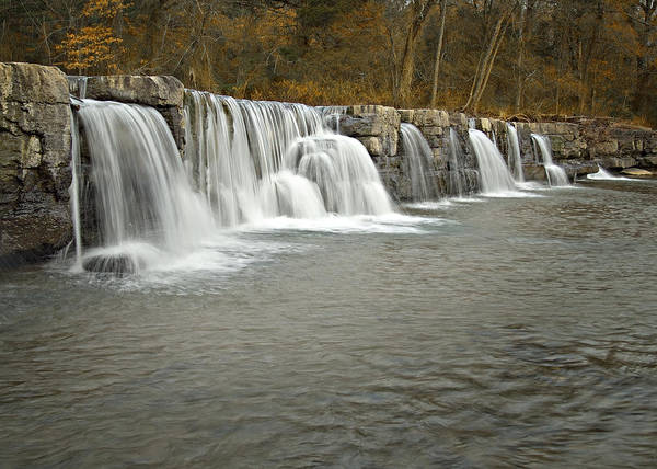 Arkansas Poster featuring the photograph 0902-6916 Natural Dam 1 by Randy Forrester